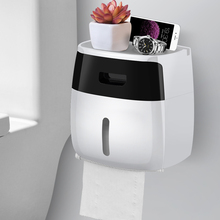 Toilet paper carton towel toilet tissue rack box household free punching creative waterproof roll tube