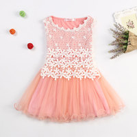 Summer New Lace Flowers Girls Dresses High Quality Child S Wear Toddler TuTu Girls Dresses Clothing