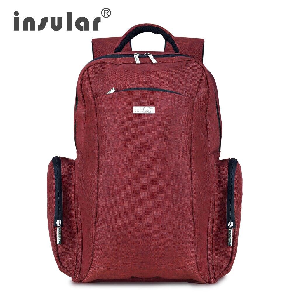 Sac à langer bébé sac à dos grande capacité multifonction bébé poussette sac avec accessoires Insular