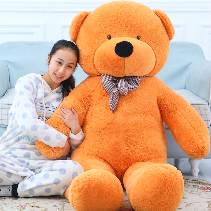 160cm giant teddy bear plush stuffed toys children cute soft peluches baby doll big stuffed animals big sale birthday gift new hot sale plush stuffed toys big yellow duck plush stuffed duck doll for children cotton soft free shipping