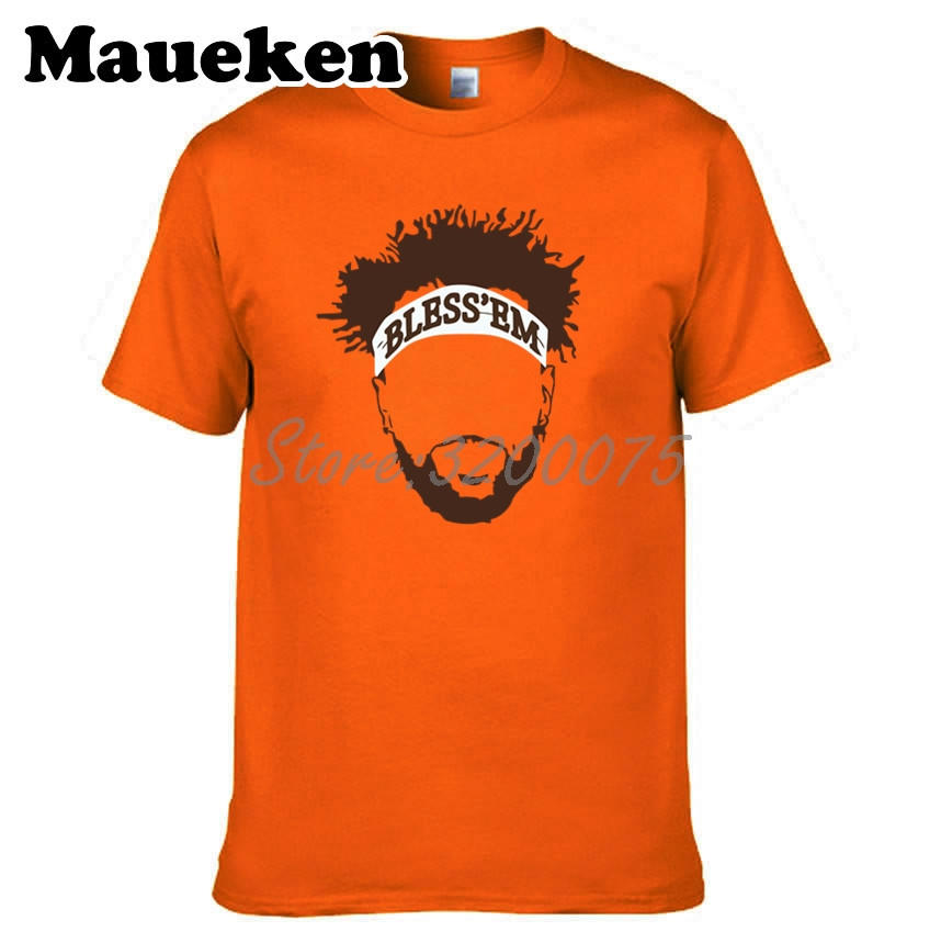 Men Jarvis Landry 80 Bless Em Cleveland T-shirt Clothes T Shirt Men s Tshirt  For Fans Gift O-neck Tee W18091113 1f1a79b2f