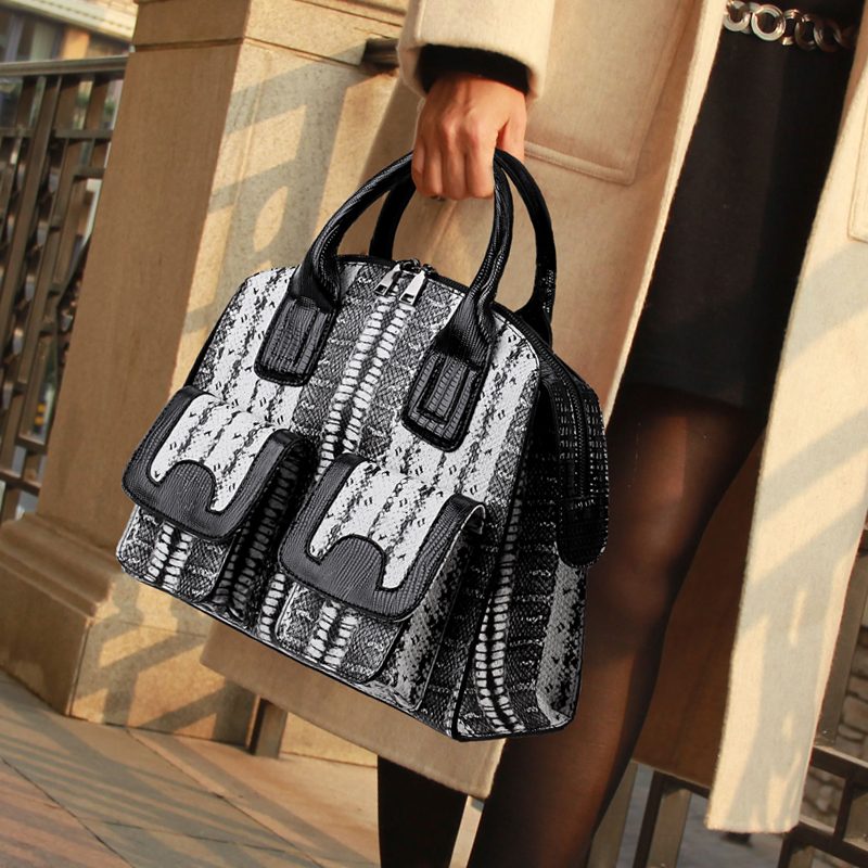 BENVICHED Для женщин корейской версии 2019 новая сумка дамская простой сумки осень и зима модные атмосфера Змея wrap сумка c146