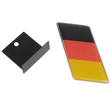 1pcs Car Styling Epoxy Durable German Flag Logo Car Front Grill Grille Emblem Badge Decal Waterproof Sticker Car Decoration
