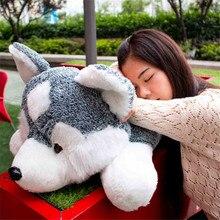 Fancytrader гигантский серый плюшевая собака хаски игрушка Поп аниме большие мягкие животные кукла для собак подарок для детей 90 см 35 дюймов
