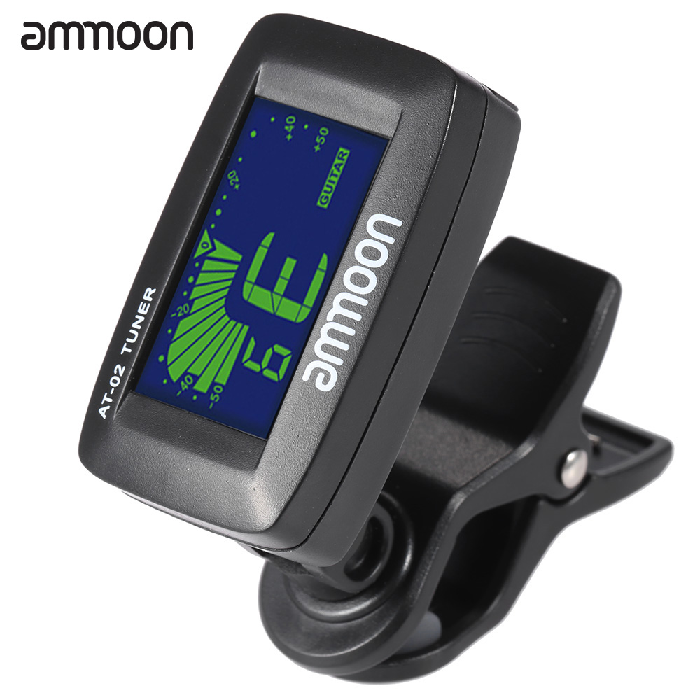 ammoon at 02 top quality guitar tuner clip on tuner universal digital electric tuner for. Black Bedroom Furniture Sets. Home Design Ideas