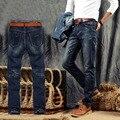 2016 Новое Прибытие Мода Черный Цвет Тонкий Прямой Досуг & Casual Марка Джинсы Мужчины, Горячая Продажа Джинсовая Хлопок Мужчины джинсы, XB1308