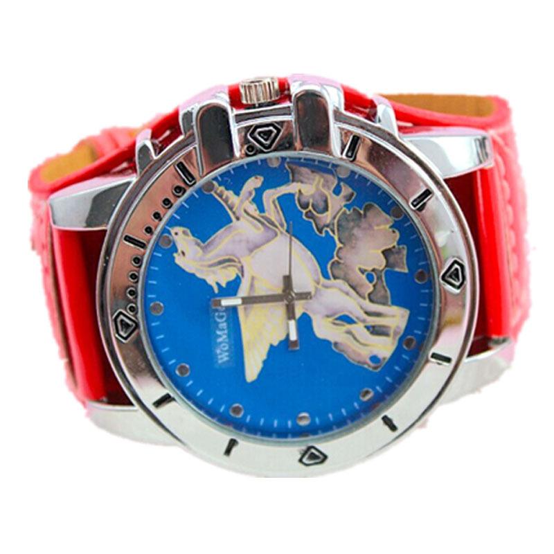 new arrival designer watch blue face fly horse dial ladies casual dress 5 colors leather strap women fashion womage brand watch