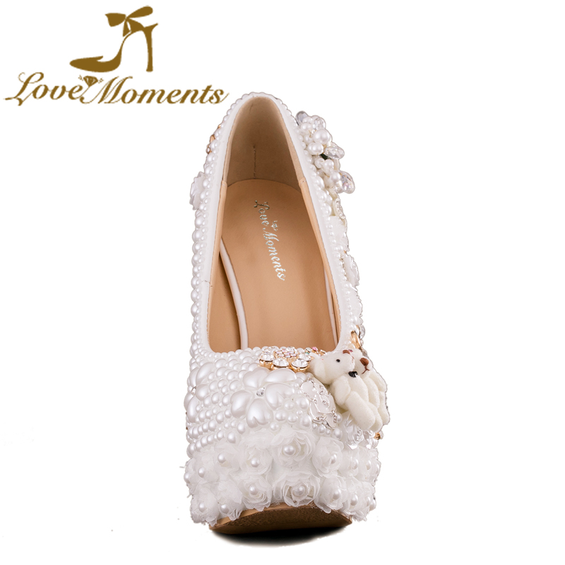 Love Moments high heels white women shoes wedding shoes bride Party dress  pearl shoes ladies valentine shoes -in Women s Pumps from Shoes on  Aliexpress.com ... 8191ea583f85
