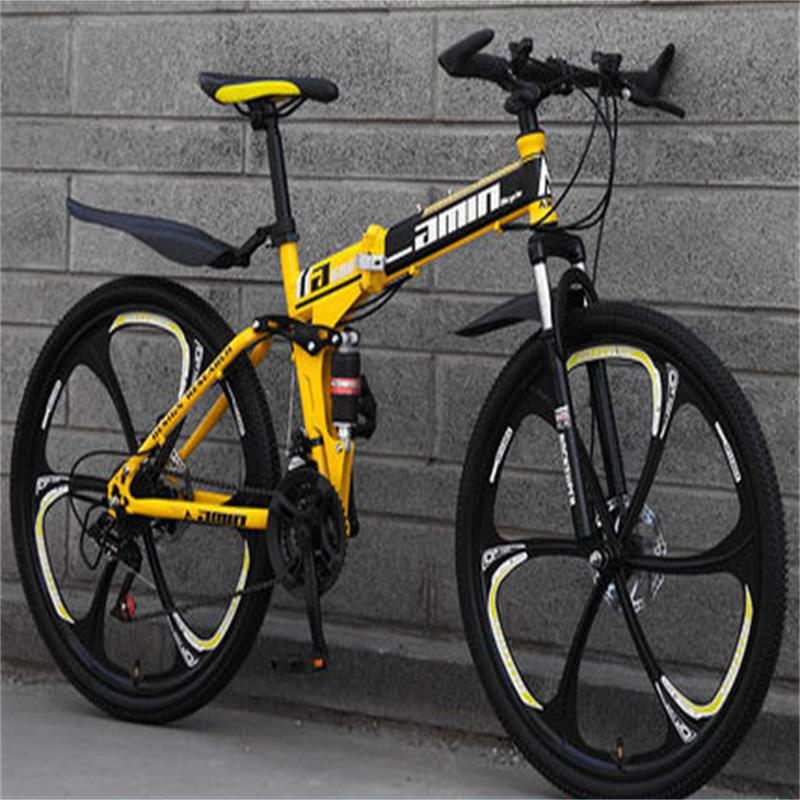 One Round Mountain Bike Adult Bicycle Fast Folding Off Road Sports Car Double Shock Men And Women Students Speed Racing