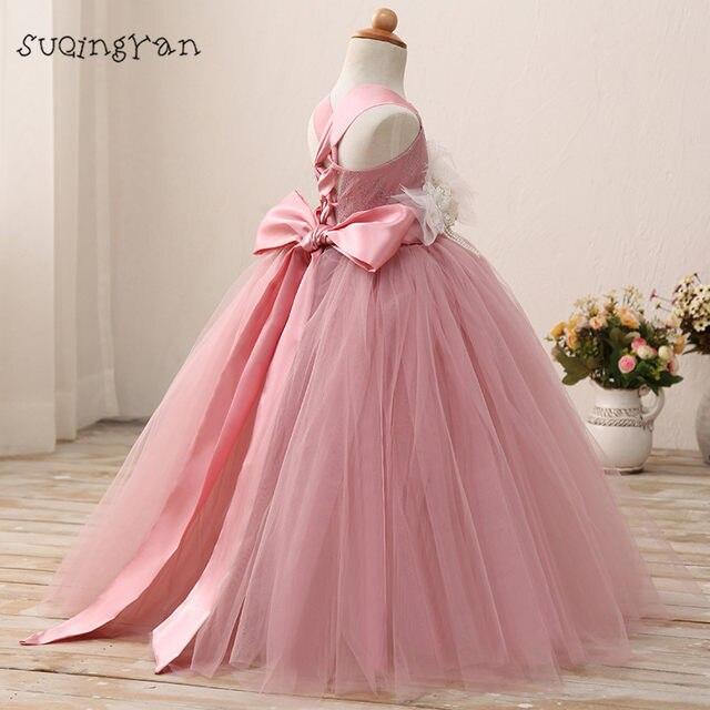 Online Shop Real Photo Blush Pink Flower Girl Dress First Communion ...