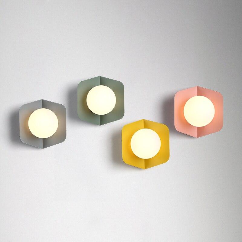 Creative ceiling lamp contracted LED glass iron indoor light decorate lighting restaurant AV110-265v modern light fixture