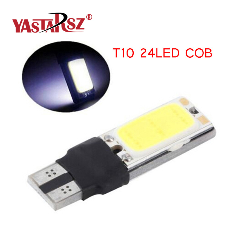1x High power t10 w5w led cob car led t10 5w5 12v t 10 bule white car light fog Lamp interior light w5w t10 canbus error free габаритные огни oem t10