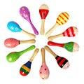 Wooden Maraca de Madera Sonajeros Musical Party Kids favor Niño Bebé shaker ToySand martillo martillo de madera de color de madera sonajeros juguetes para bebés