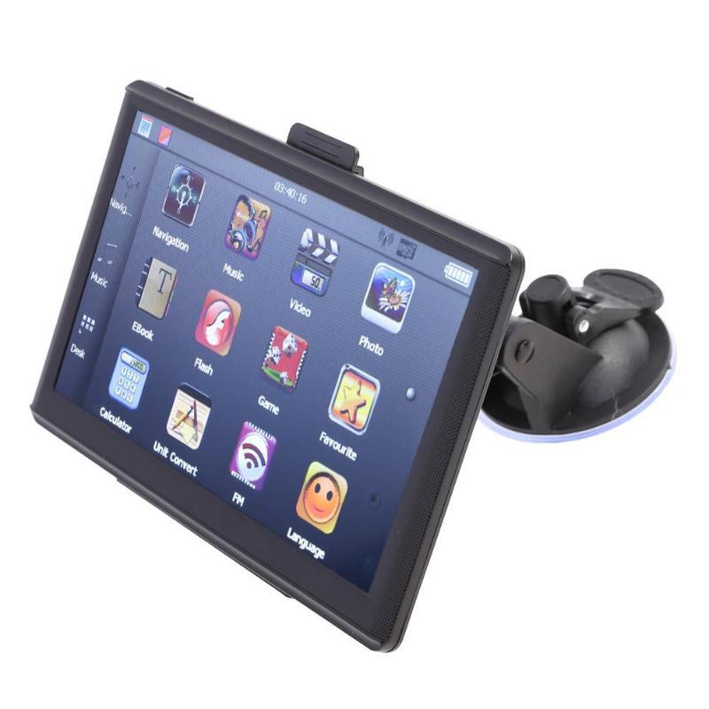 Portable 7 pouce HD LCD Voiture GPS Navigation Bluetooth FM MP3 Lecteur AVIN 8 gb Carte Europe Sat Nav Camion navigateur de voiture Moniteur