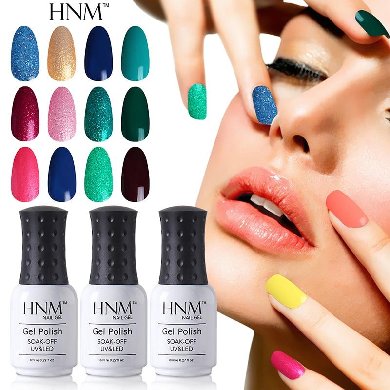HNM Fashion 194 Colors 8ML Gel Nel Polish UV Nail Gel ...