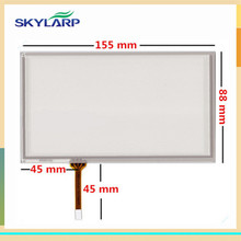 Skylarpu Pantalla Táctil de 6.2 pulgadas Resistiva de 4 hilos 155mm * 88mm panel de vidrio Digitalizador para HSD062IDW1 A00 TM062RDH03