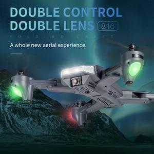 "Image 2 - Visuo XS816 מל ""טים 4k מקצועיות מסוק WiFi FPV אופטי זרימת מיצוב מתקפל כפולה מצלמה Selfie RC Quadcopter Dron"