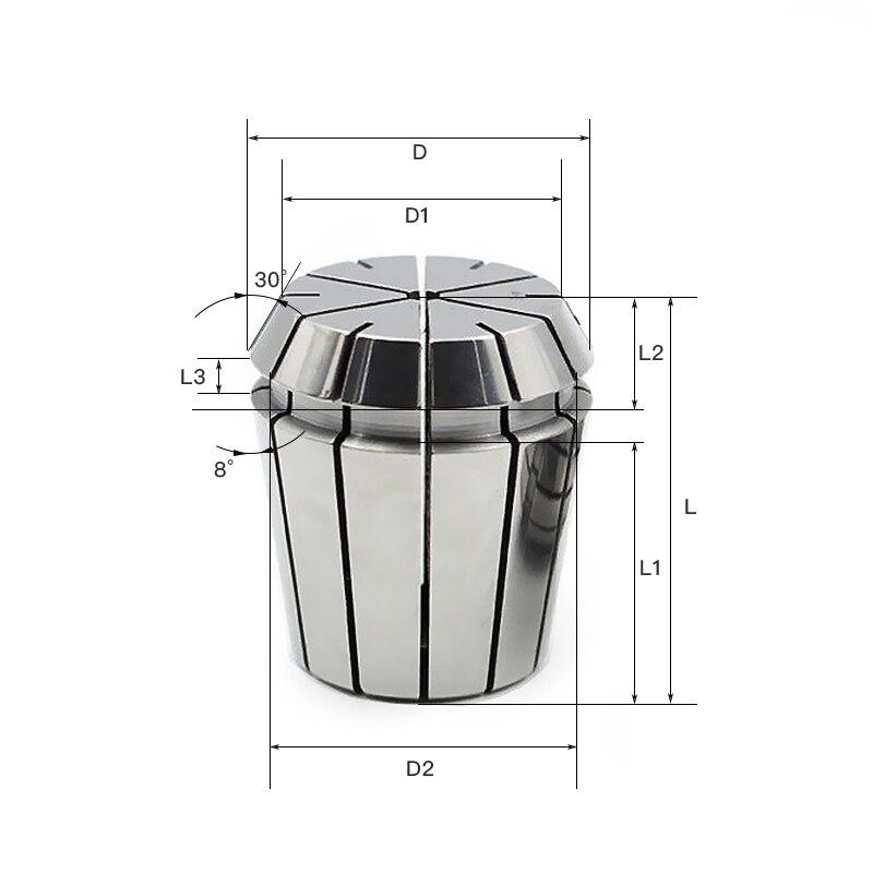 LF/&LQEW 1pc ER8-16 1.0-10mm Spring Collet Clamp for CNC Engraving Machine Collet Chuck Holder Size : ER16 9.0