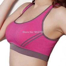 1 PCS Hot ! Multicolors ! Women Padded Top Athletic Vest Gym Fitness Sports Bra Stretch Cotton Seamless Free Shipping popular