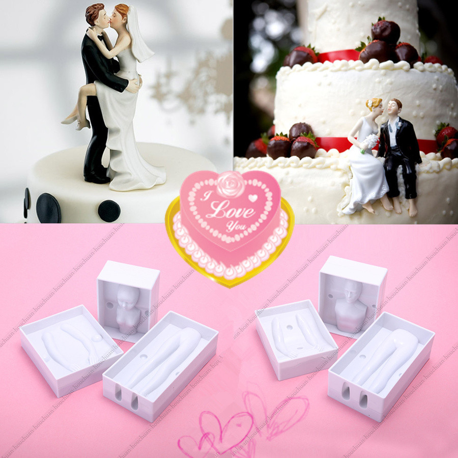 3D Female & Men Body Doll Fondant Cake Mold Modelling Wedding Cake ...