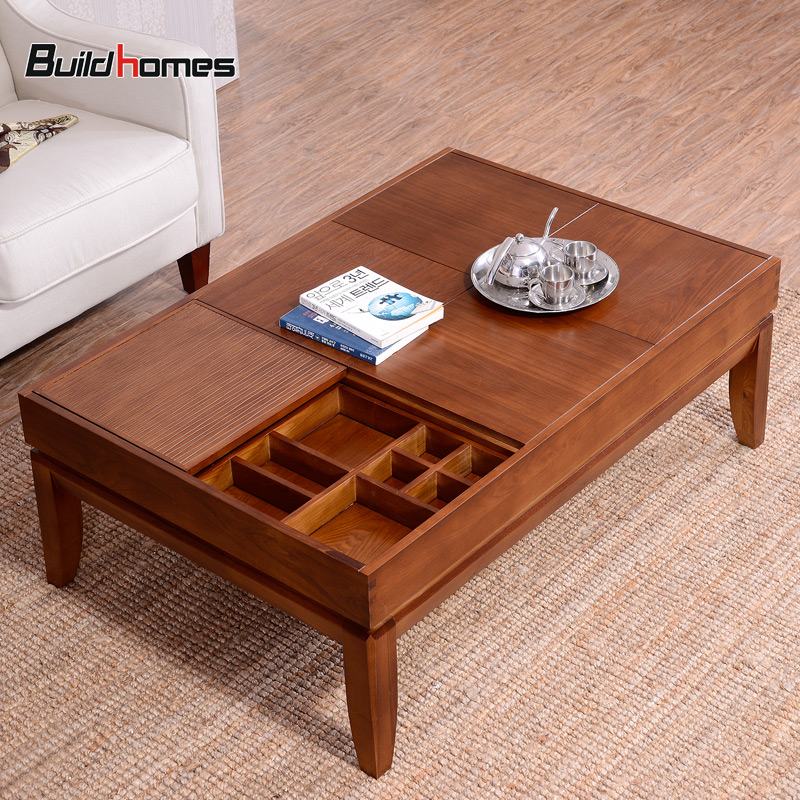 Small Apartment Minimalist Wood Coffee Table Tea Storage Small Rectangular Sub Chazhuo