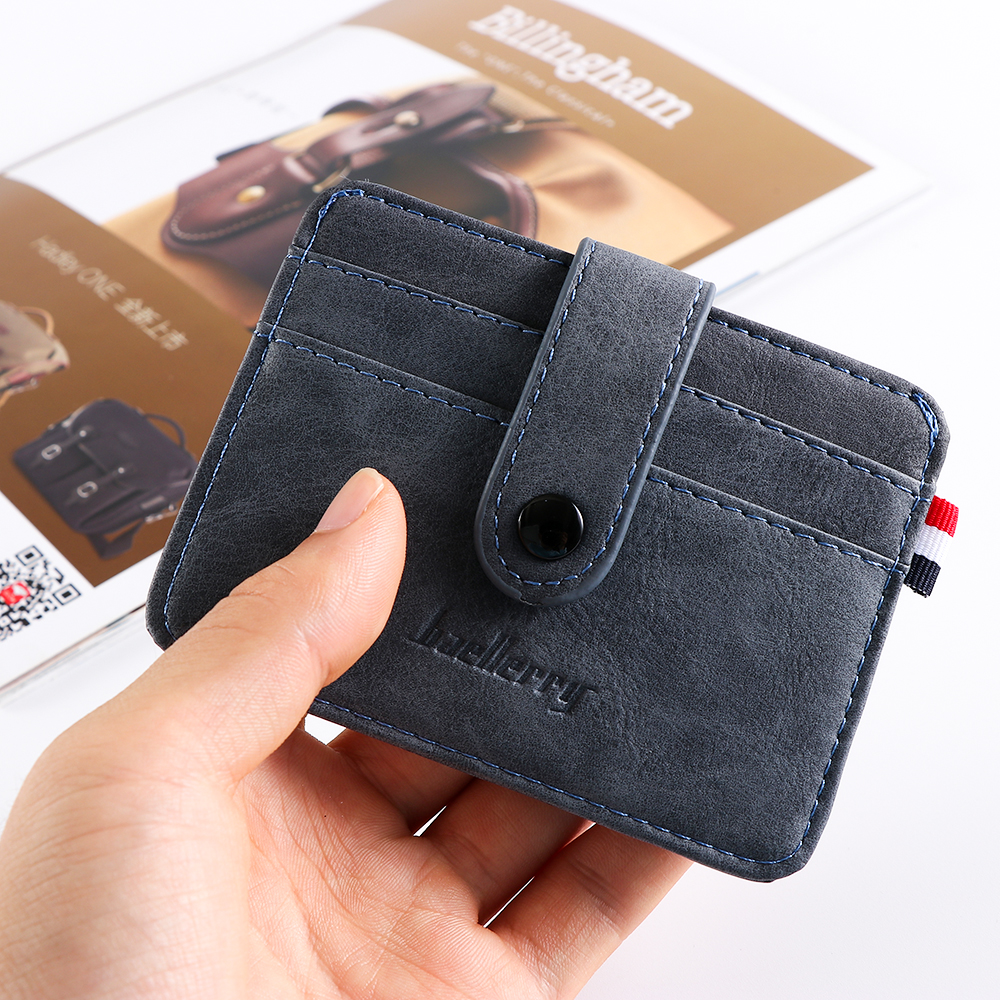 Fashion Men's Leather ID Credit Card Holder Wallet Coin Purse Business Slim Money Pocket Case Multi-card Position Card Holder