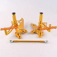 Motorcycles Adjustable Shift Brake Rear Set Footpegs Foot Rest Peg For Honda RVF400 Spare Parts