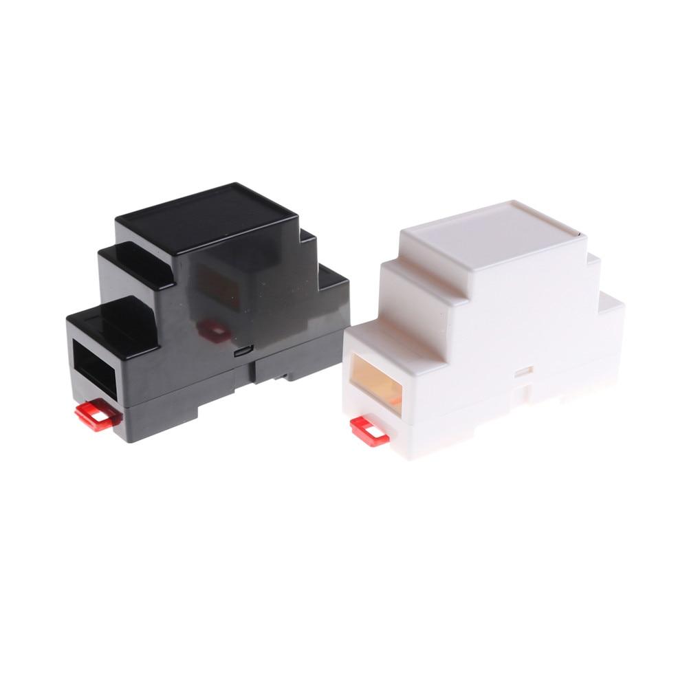 1PCS DIN Rail PLC Junction Box Plastic Electronics Box Project Case 2Colors 88x37x59mm