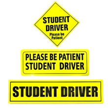 Aliauto Safety Warning Car Stickers Mark Student Driver Be Patient Decal Universal
