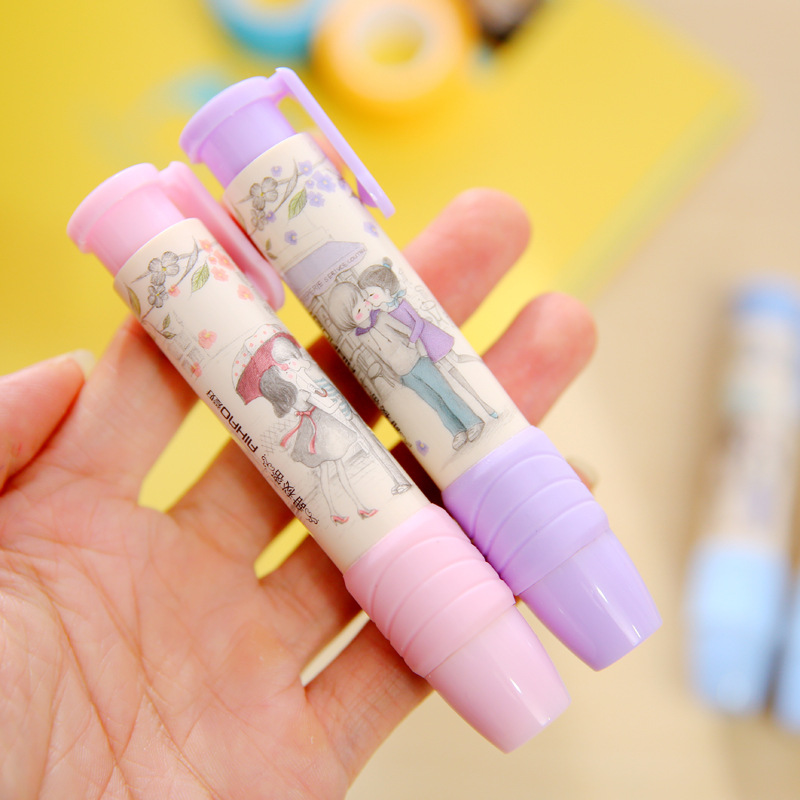 Fashion Students Pen Shape Eraser Rubber Stationery Kid*Gift Toy Cute SP