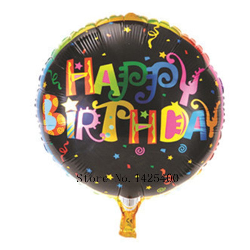 free shipping 18 inch round aluminum birthday balloon birthday party decoration