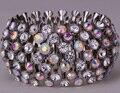 Стретч манжеты браслет античное золото посеребренная W кристалл Xmas праздник bling ювелирные изделия подарок для женщин B02 оптовые dropshipping