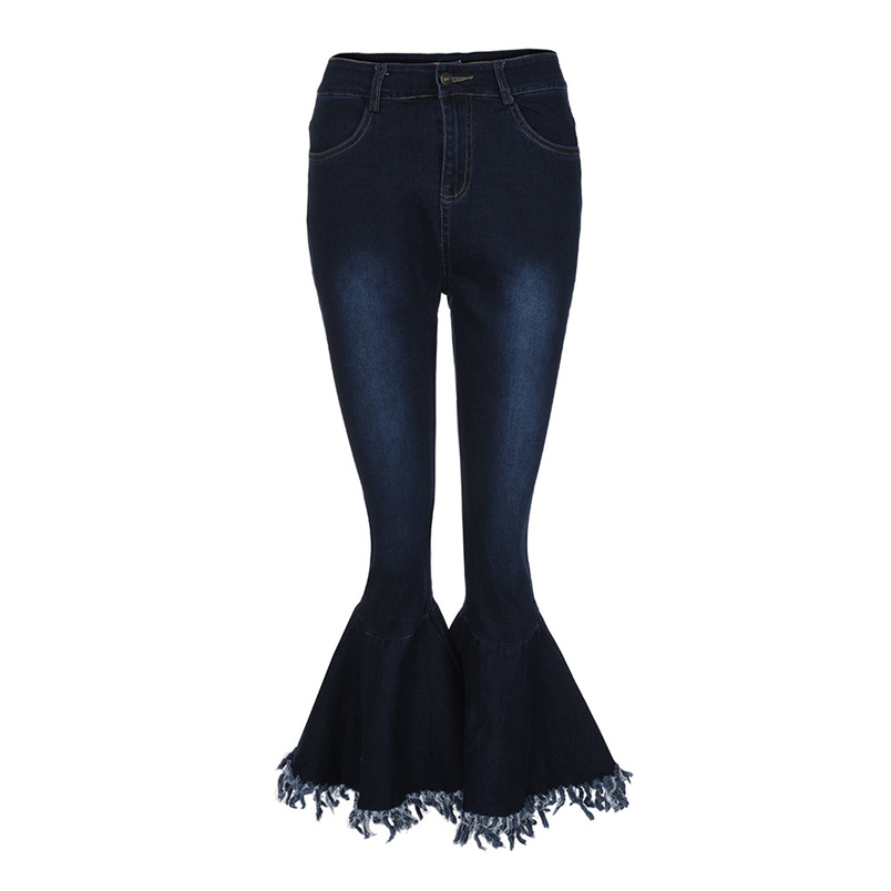 Fashion Women Hight Waisted Skinny Hole Denim Jeans Flare Pants Stretch Slim Pants Bell-bottoms Casual Jean Lady Jeans #K29 (9)