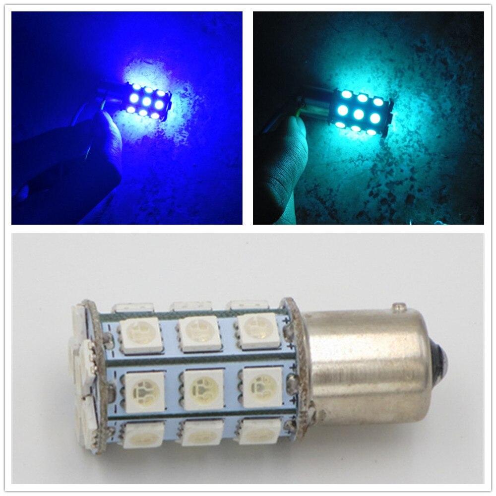 CYAN SOIL BAY 4X 1156PY <font><b>BAU15S</b></font> 7507 5009 <font><b>PY21W</b></font> 5050 27-SMD <font><b>LED</b></font> Brake/Backup/Tail/Turn Signal <font><b>LED</b></font> Light Lamp Bulb 1156 BA15S P21W