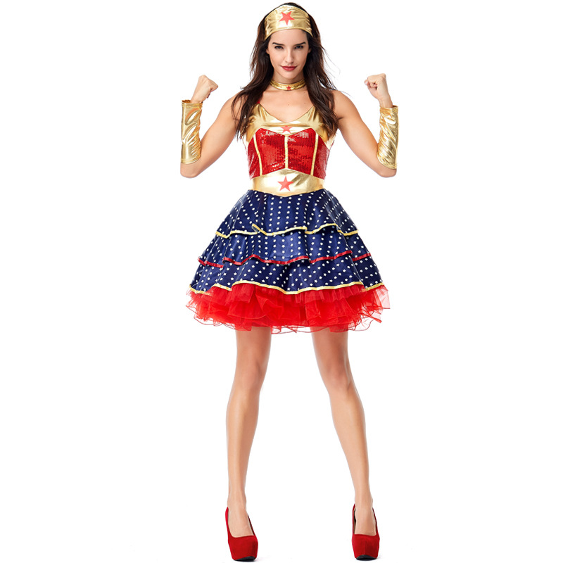 LICENSED WONDER WOMAN ADULT WOMENS FANCY DRESS HALLOWEEN COSTUME