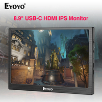 Eyoyo 8.9 inch Mini Monitor 1920x1200 IPS Display USB C&HDMI Video Input compatible with MAC Laptop Portable Monitor