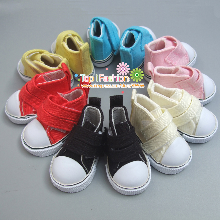 Doll Accessories Shoes 5 Cm Denim Canvas Mini Toy Shoes1/6 Bjd Sneackers Boots For Russian Cloth Handmade Doll