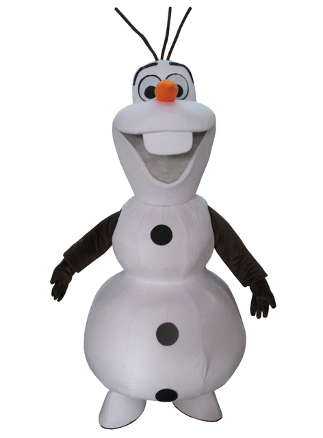 cosplay  costumes Olaf On Sale, Not To Be Missed.Smiling Olaf Mascot Costume Cartoon Character Costume Free Shipping