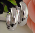 Free Shipping Glossy Silver Alluring Pretty Hoop Earrings For Women pendientes brincos Wholesale
