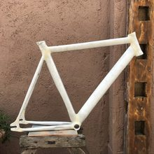 Fixed Gear Bike Frame 53 cm 55cm 58cm Smooth Welding Raw Frame Fixie Bicycle Frame Aluminum Alloy Frame(China)
