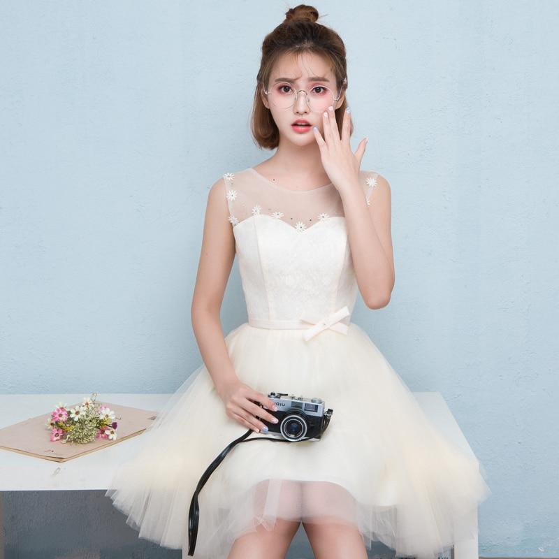 2017 new   Bridesmaid     Dresses   plus size stock cheap under $50 white short a line lace sexy princess romantic fashion JYX848DX