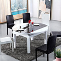 solid wood dinning table and chair decor combination toughened glass for dinning room and living room furniture