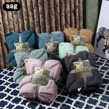 купить AAG Luxury Super Soft Sherpa Coral Fleece Blanket Solid Color Double Layer Thick Plush Throw Kid Adult Warm Blankets On Bed Sofa дешево