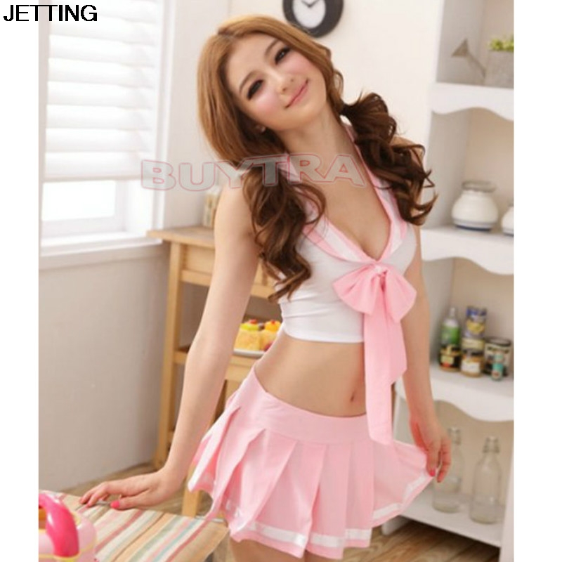 2017 Woman Pink Sailor Adult Sex Costumes Sexy Lingerie Hot Racy College Students Uniforms Halloween Costumes For Women