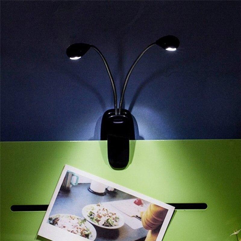 Новый двойной полюс 8 светодиодный лампы USB настольная лампа мини глаз-Уход Настольная лампа двойной гибкий гуснекс клип- на руку исследован...