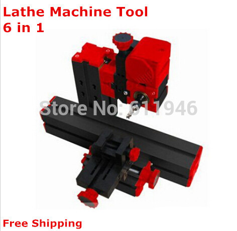 DIY 2 Set Mini Lathe Machine 6 in 1, DIY Mini Micro Lathe Machine Tool 6 in 1, For Wood and Soft Metal
