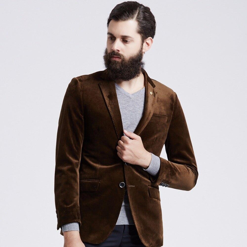 Popular Brown Velvet Blazer-Buy Cheap Brown Velvet Blazer lots ...