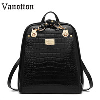 2018 famous brand Women Backpacks Solid School Bags for Girls pu leather shoulder bag fashion simple backpack