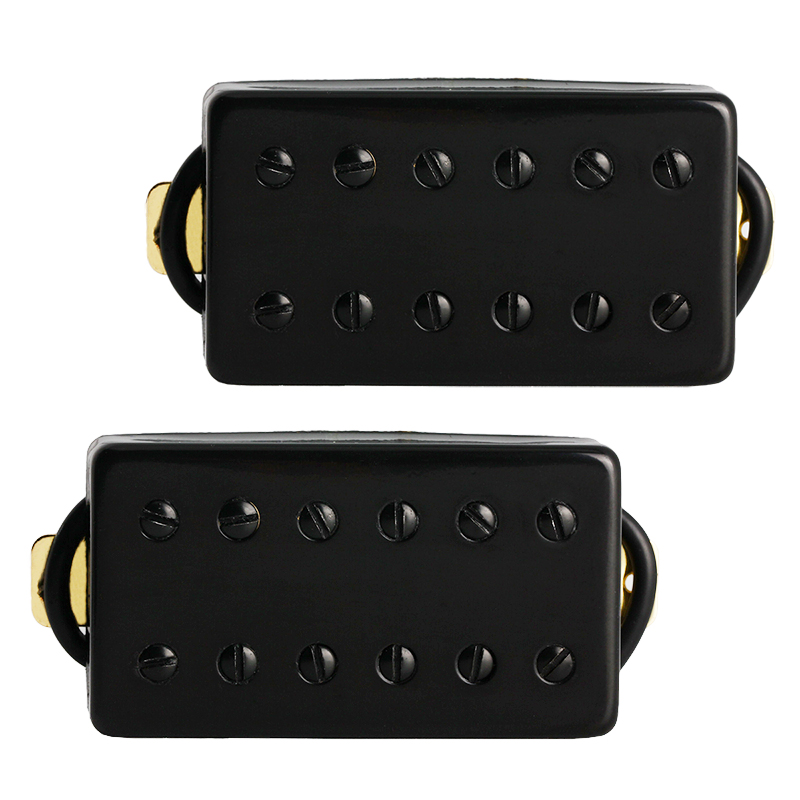 Electric Guitar Pickup Humbucker Pickups Bridge and Neck Set for Guitar Parts Replacement Black electric guitar pickup humbucker for 6 string 6 pieces double coil pickups set neck bridge pickup humbucker double coil