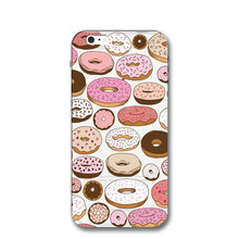 Фотография Donuts Transparent Tpu Case For Iphone 7 7 Plus Case Silicone Soft Fruit Banana Cover For Iphone 6 6S Plus 5 5s se Shell